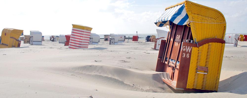 Botkum Urlaub Borkumer Strandkörbe